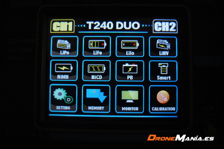 htrc t240 duo menu