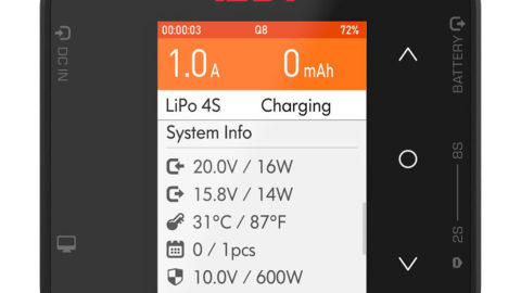 ISDT Q8 BattGo 500W 20A Cargador LiPos